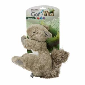 Gor Wild Squirrel Soft Squeaky Dog Toy