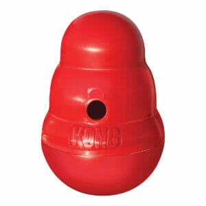 Kong Wobbler interactive dry food dispensing toy