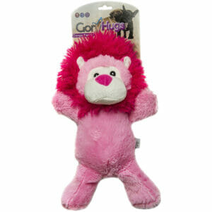 Cheerful and soft plush toy for dogs, perfect cuddling toy, made from soft fabric & filled with hollow fibre, ideal for indoor play. Beautifully made toy.